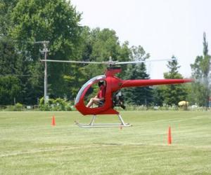Puzle Malý vrtulník s pilotem