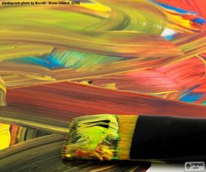 Puzle Malování v různých barvách