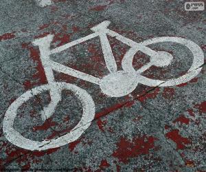 Puzle Maloval, jízdní kolo, signál