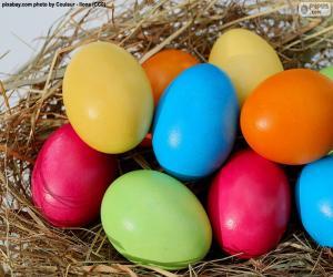 Puzle Malovaná velikonoční vajíčka
