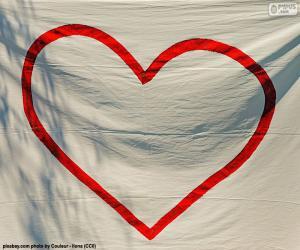 Puzle Malované srdce