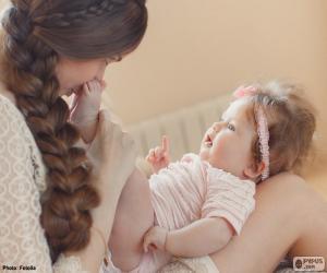 Puzle Maminka a její miminko