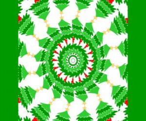 Puzle Mandala se vánoční ozdoby