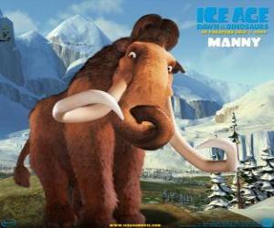 Puzle Manfred, Manny, mamut