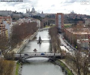 Puzle Manzanares řeka, Madrid
