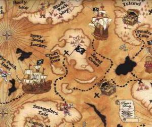 Puzle Mapa pokladu