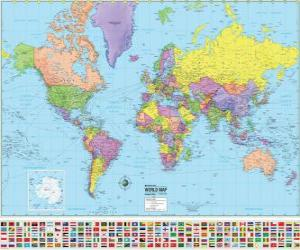 Puzle Mapa s hranicemi zemí světa