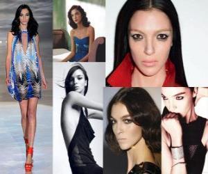 Puzle Mariacarla Boscono je italský model