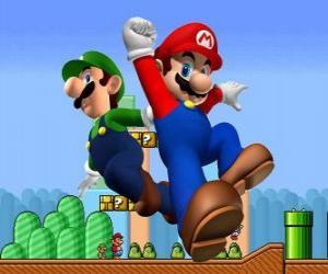 Puzle Mario a jeho bratr Luigi, nejslavnější instalatéři