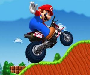 Puzle Mario Bros na motorce