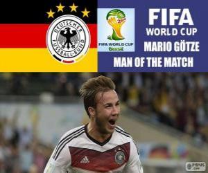 Puzle Mario Götze, nejlepší hráč finále. Brazílie 2014 mistrovství světa ve fotbale