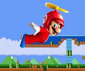 Puzle Mario létání s trupem s vrtulí
