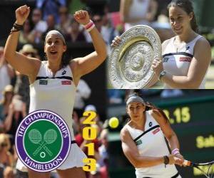 Puzle Marion Bartoliová vítěz Wimbledonu 2013