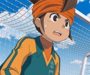 Puzle Mark Evans nebo Mamoru Endo, brankář fotbalového týmu Raimon školy a hlavní protagonista seriálu Inazuma jedenáct