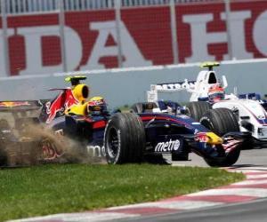 Puzle Mark Webber pilotování svého F1
