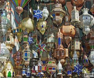 Puzle Marocké lampy