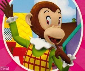 Puzle Martha Monkey vtipkuje na další hračky