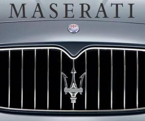 Puzle Maserati logo, italský sportovní vůz značky