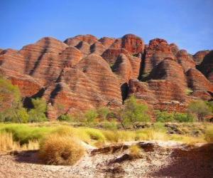 Puzle Masiv Bungle Bungle Purnululu v Národním parku v Austrálii.