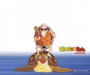 Puzle Master Roshi, Muten Roshi nebo Kamy Sennin, staré bojové umění mistra, který vlaky Son Goku a Krillin