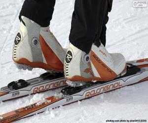 Puzle Materiál běžeckého lyžování
