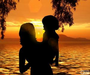 Puzle Matka se synem v náručí
