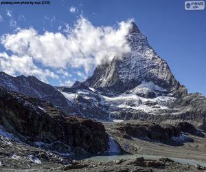 Puzle Matterhorn, Švýcarsko a Itálie