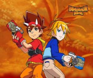 Puzle Max a Rex, dva z protagonistů v Dinosaur King