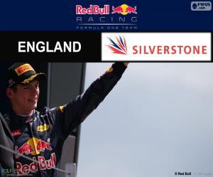 Puzle Max Verstappen, britské Grand Prix Velké Británie 2016