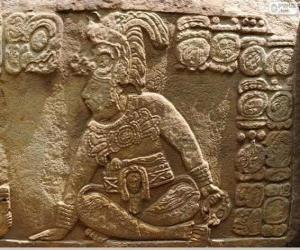 Puzle Mayská kresby vytesané na kamenné
