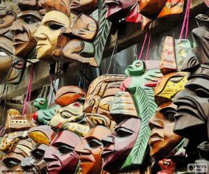Puzle Mayské masky