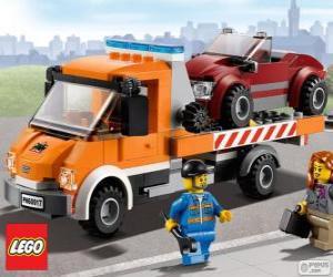 Puzle Mechanické pomoc Lego City