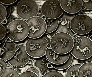 Puzle Medaile s znamení čínského zvěrokruhu