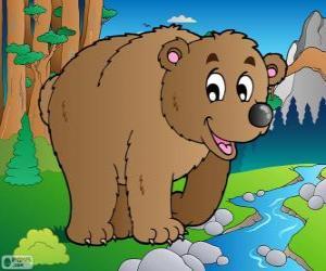 Puzle Medvěd hnědý