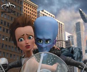 Puzle Megamysl a Roxanne na motorce