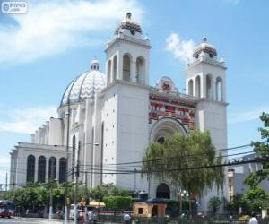 Puzle Metropolitní katedrála Božského Spasitele, San Salvador, El Salvador