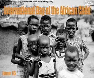 Puzle Mezinárodní den afrického dítěte