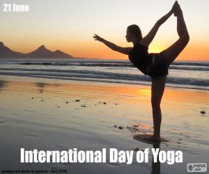 Puzle Mezinárodní den jógy