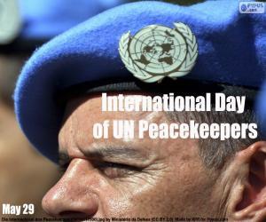 Puzle Mezinárodní den mírových sil OSN