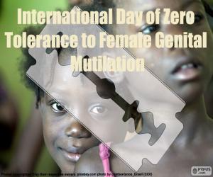 Puzle Mezinárodní den nulové tolerance k mrzačení ženských pohlavních orgánů
