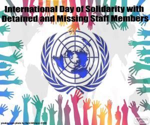 Puzle Mezinárodní den solidarity s zadrženy a chybí zaměstnanci