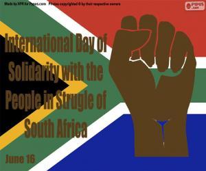 Puzle Mezinárodní den solidarity s lidmi v boji s Jihoafrickou republikou