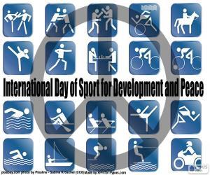 Puzle Mezinárodní den sportu za rozvoj a mír