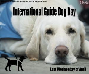 Puzle Mezinárodní den vodicích psů