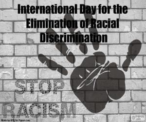Puzle Mezinárodní den za odstranění rasové diskriminace