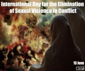 Puzle Mezinárodní den za odstranění sexuálního násilí v konfliktech