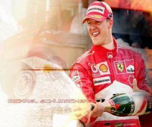 Puzle Michel Schumacher (Kaiser) ve stupních vítězů