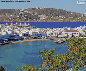 Puzle Mikonos, Řecko