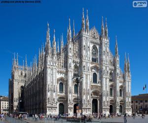 Puzle Milan katedrála, Itálie