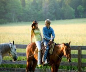 Puzle Miley Stewart na koni